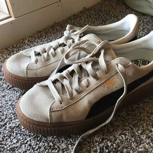 suede puma platform sneakers